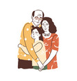 people reunion concept aged parents vector image vector image