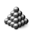 Pyramid of magnetic balls vector image vector image