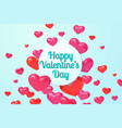 red realistic hearts poster valentines day gift vector image vector image