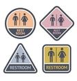 Restroom symbols set flat symbols vector image vector image