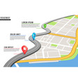 roadway infographic locations map highway pinned vector image