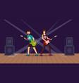 rock concert flat vector image