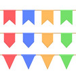 set of garlands with celebration flags chain vector image vector image