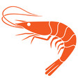 shrimp icon vector image vector image
