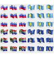 Slovenia Palau South Africa Kosovo Set of 36 flags vector image vector image