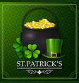 st patricks day with golden coins and hat vector image vector image