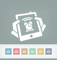 tablet clock icon vector image