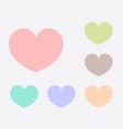 valentine heart simbol pastel icon vector image
