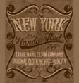 vintage label fashion design for print vector image vector image