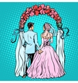 Wedding groom bride altar vector image vector image