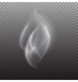 white smoke on transparent black background white vector image vector image