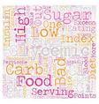 Why Low Glycemic Foods text background wordcloud vector image vector image