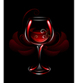 wineglass of red wine vector image vector image