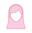 woman face character earring and hairstyle vector image vector image