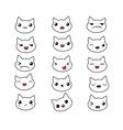 Cute cat emotions set vector image