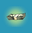packing of banknotes one hundred dollars vector image