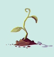 Young sprout and dirt vector image