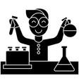 scientist kid lab tests icon vector image