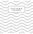 wave seamless minimalistic pattern vector image