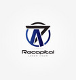abstract initial letter r cross logo sign symbol vector image vector image