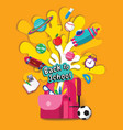 back to school book inspiration online learning vector image vector image