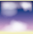background nightly sky scene cloudiness vector image
