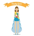 Beauty queen vector image