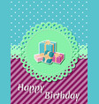 birthday card holiday template vector image vector image