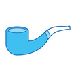 blue icon smoke pipe vector image