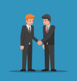 businessmen shaking hands together vector image vector image