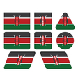 buttons with flag of Kenya vector image vector image