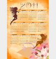 calendar grunge fairy vector image vector image