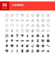 casino line web glyph icons vector image vector image