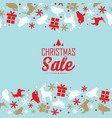 christmas sale decorative poster vector image vector image