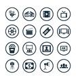 cinema icons universal set vector image vector image