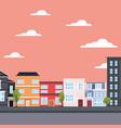 city urban buildings street vector image vector image