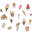 Collection of colorful tasty ice cream vector image vector image