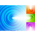 colorful concentric circle elements 4 bright vector image vector image