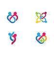 community icon design template vector image vector image