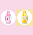 cosmetics set package hydration shampoo vector image vector image