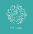 cosmetics2-linear-set1 vector image vector image