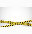 crime line tape police danger caution vector image