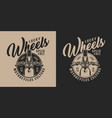 custom motorcycle vintage label vector image vector image