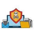 cyber security data vector image