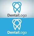 dental logo 4 vector image vector image