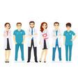 doctors team vector image vector image