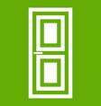 door icon green vector image vector image