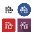 dotted icon home in four variants with short vector image vector image