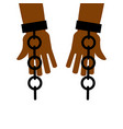 emancipation from slavery break free chains on vector image vector image
