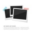 enjoy your moments set polaroid photos vector image